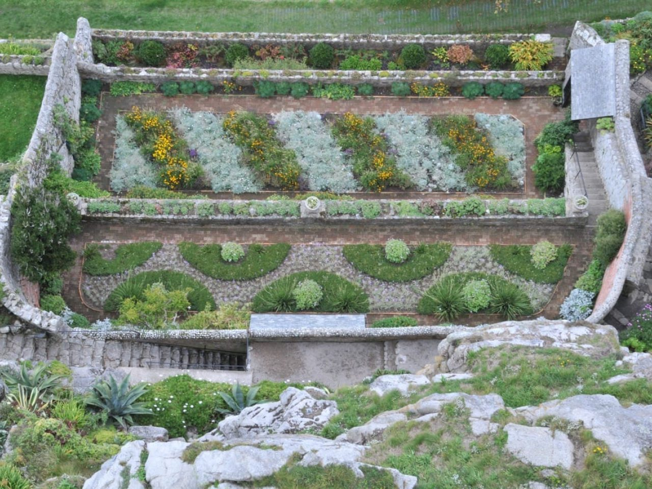 Walled Garden From Above